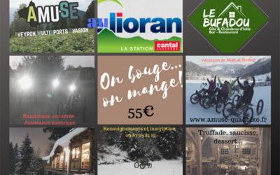 Randonnée nocturne en quadbike et repas sur le Lioran